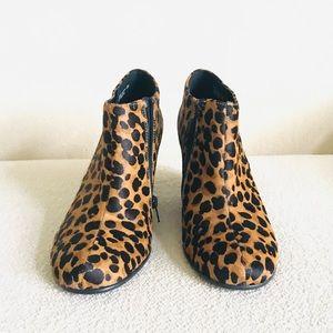 Aerosoles  leopard calf fur ankle boots